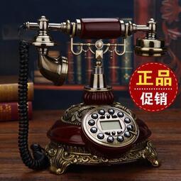 美式仿古電話座機歐式電話機老式家用無線插卡固定轉盤復古電話 MKS極速出貨