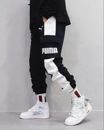 S-2XL PUMA 彪馬 新款 經典嘻哈休閒運動情侶 串標長褲 運動 古著長褲 雙側邊情侶休閒59582