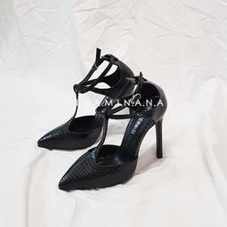 大尺碼時尚性感尖頭透氣一字扣帶尖頭韓版細跟高跟鞋 #S2179# 預購 MINA.N