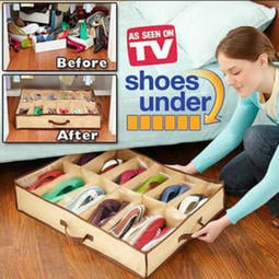 12格 鞋子收納袋 鞋收納袋 儲物袋 床底收納箱 鞋子收納盒 不織布收納袋 鞋架 拖鞋收納 【RS938】