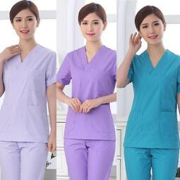 【職業裝】LS7621多色可選 洗手衣手術衣短袖分體美容服牙科服護士服刷手服隔離衣 男女款