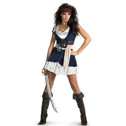 現貨尾牙服裝 化妝舞會海盜cos杰克船長成人男女加勒比海盜酒吧演出