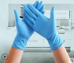 【可開發票-快速出貨】一次性手套 一次性乳膠手套耐磨加厚白pvc橡膠防水手術丁?膠皮塑膠防護檢查 快速出貨