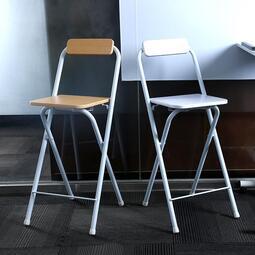 快速出貨限時優惠--簡約現代家用高腳折疊椅折疊凳子吧檯椅便攜吧台椅加厚成人休閒高腳椅【桂】